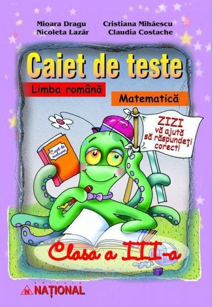 Caiet de teste la limba română şi matematică – clasa a III-a